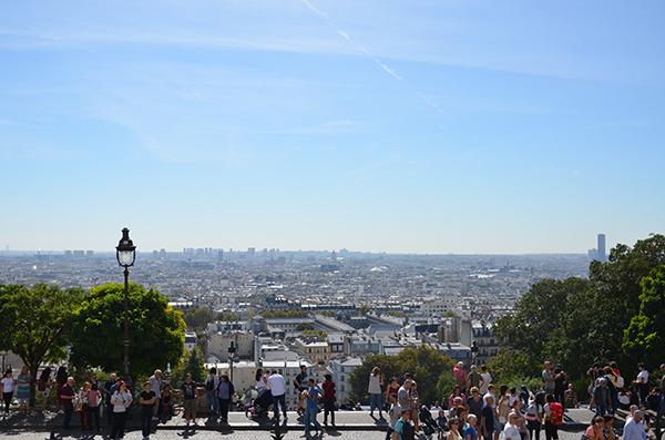 Kurztrip Paris - Montmartre - Ausblick Basilika Sacré Coeur auf die Stadt Paris