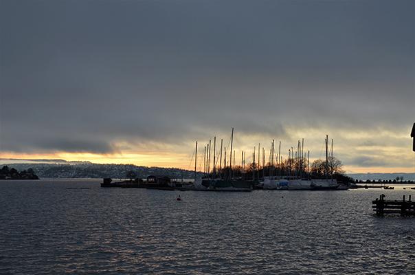 Oslo Fjord bei Sonnenuntergang