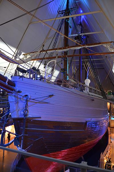 Oslo Fram Polarschiffmuseum Fram Schiff Haupthalle