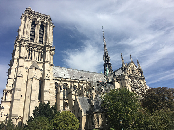 Notre Dame Paris vom Seine Ufer