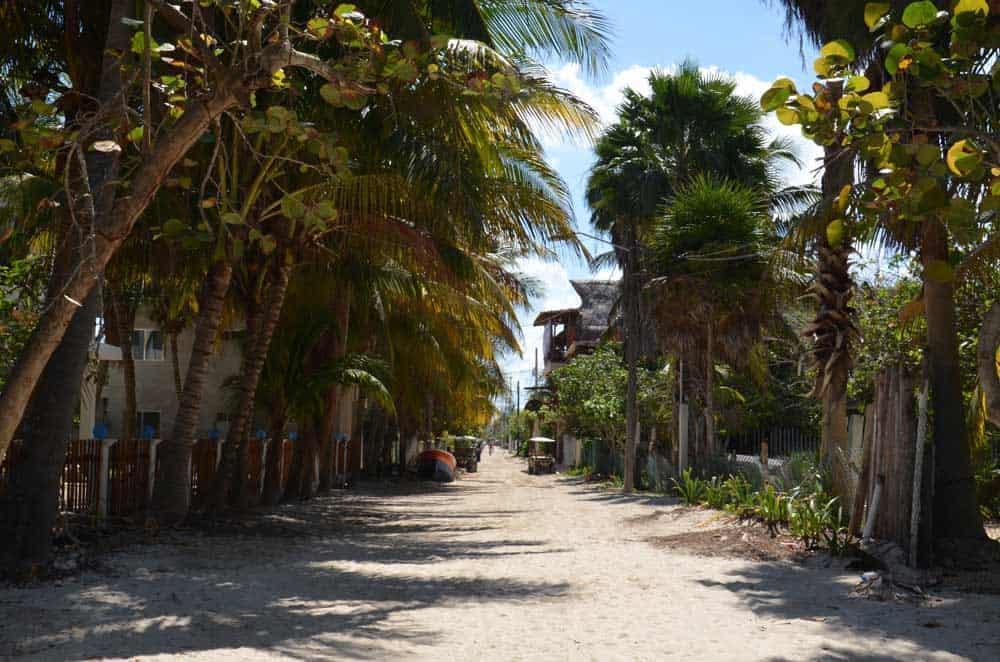 Insel-Holbox-Strandzugang