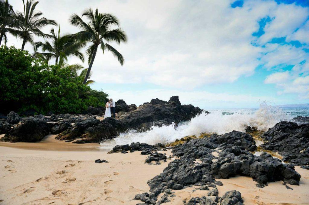 Heirat Hawaii am-Meer